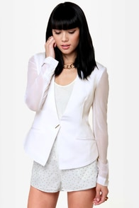 Blazer of Glory White Blazer at Lulus.com!