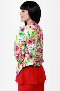 Floral of the Story Floral Print Blazer