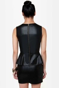Leather 'tis Nobler Black Vegan Leather Dress at Lulus.com!