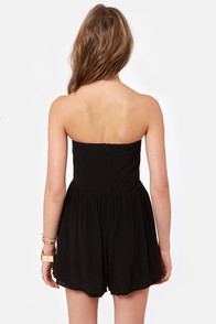 Back to Brazil Beaded Black Romper at Lulus.com!