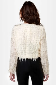Master Shredder Studded Cream Jacket at Lulus.com!