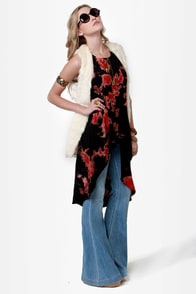 Dye-al Tones Black Tie Dye High-Low Top at Lulus.com!