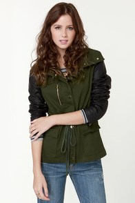 Oregon Coast Black and Green Coat at Lulus.com!