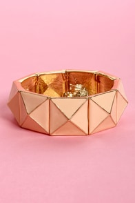 Peak Season Peach Stretch Bracelet at Lulus.com!