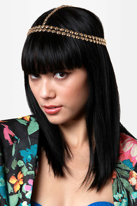 Flapper's Delight Beaded Gold Headpiece at Lulus.com!
