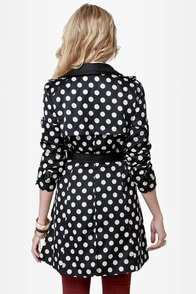 When in Dot Polka Dot Trench Coat at Lulus.com!