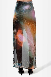 Comet's Tail Galaxy Print Skirt at Lulus.com!