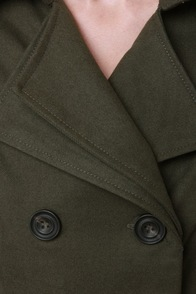 Undercover Lover Army Green Trench Coat at Lulus.com!