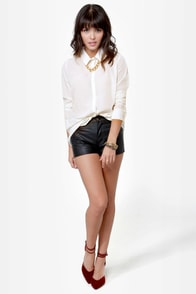 Back on Track Ivory Button-Up Top at Lulus.com!