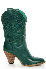 Very Volatile Denver Teal Green Embroidered Cowboy Boots at Lulus.com!