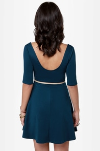 Month of Sundaes Blue Dress at Lulus.com!