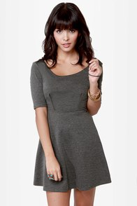 Month of Sundaes Grey Dress at Lulus.com!