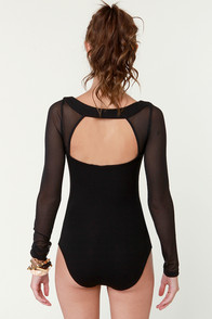 I Put a Spell On You Black Bodysuit at Lulus.com!
