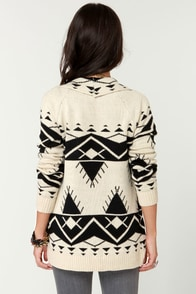 Cozy Neighbor Black and Ivory Sweater at Lulus.com!