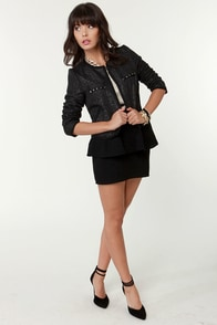 Light Years Ahead Glitter Black Cropped Jacket at Lulus.com!