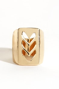 Chev-olution Chevron Ring at Lulus.com!