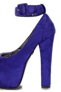 Promise Mendoza Blue Ankle Strap High Platform Heels at Lulus.com!