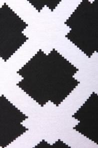 Motel Matilda Black and White Print Strapless Bodysuit at Lulus.com!
