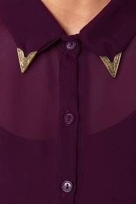 Tip of the Cap Plum Purple Shirt Dress at Lulus.com!