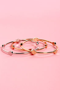 Cool Box Bangle Set at Lulus.com!