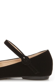 Doby 4 Black Velvet Mary Jane Ballet Flats at Lulus.com!