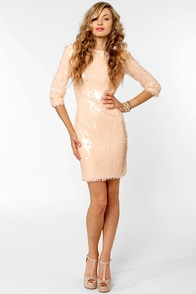 Blaque Label Angel Kisses Blush Sequin Dress at Lulus.com!