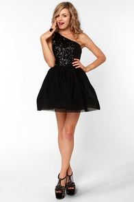 Waltz in a Name Black Sequin Dress at Lulus.com!