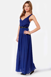 Ladakh Dual Landscape Blue Maxi Dress at Lulus.com!