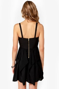 Ladakh Fierce Fire Studded Black Dress at Lulus.com!