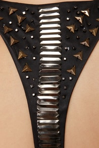 Ladakh Tune In Studded Black Dress at Lulus.com!