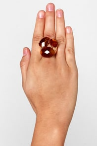 Citron Legacy Gold Stretch Ring at Lulus.com!