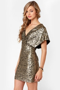 Ladakh Felicity Black and Gold Sequin Dress at Lulus.com!