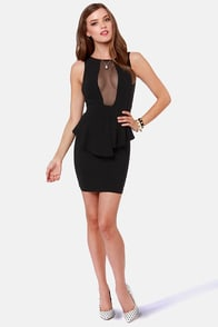 Look at This Mesh Black Dress at Lulus.com!
