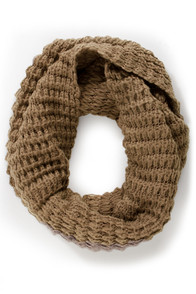 Weavin' Flow Taupe Infinity Scarf at Lulus.com!