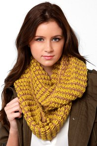 Put a Ring On Knit Chartreuse Infinity Scarf at Lulus.com!