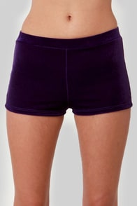 Jewels of Attraction Purple Velvet Shorts at Lulus.com!
