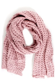 Wrapped Up In You Blush Pink Scarf at Lulus.com!