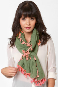 Gypsy Pepper Pink and Green Scarf at Lulus.com!