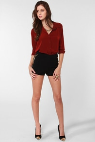 Always a Good Time Black Beaded Shorts at Lulus.com!