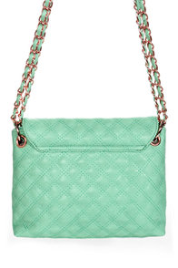 Seven Year Stitch Quilted Mint Purse at Lulus.com!