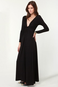 With a Twist Black Maxi Dress at Lulus.com!