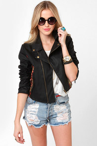 Wild Horses Black Vegan Leather Jacket at Lulus.com!