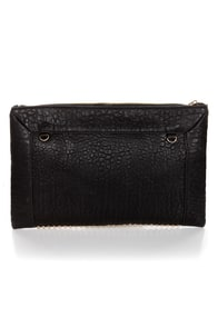 Bump Up the Volume Studded Black Clutch at Lulus.com!