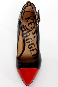 Kelsi Dagger Eryn Black, Red, and Leopard Cap-Toe Pointed Pumps at Lulus.com!