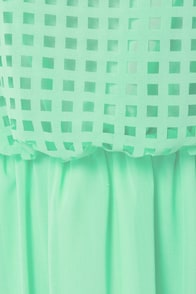 Who, What, Square Mint Green Midi Dress at Lulus.com!