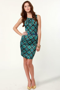Not Your Granny Square's Blue Print Dress at Lulus.com!