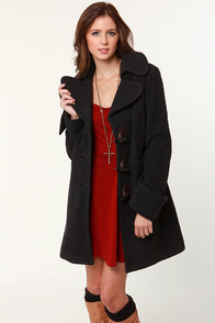 Black Sheep Legend Charcoal Grey Coat at Lulus.com!