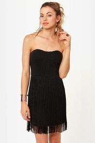 Evolution of the Flapper Black Fringe Dress at Lulus.com!