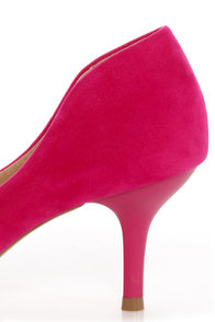 Restricted Sofia Fuchsia Bow-Topped Pointed Pumps at Lulus.com!