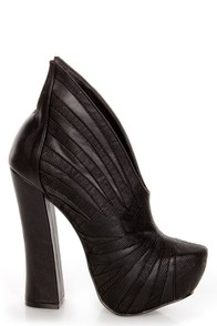 Penny Sue Cha Cha Black Sculptural Platform Booties at Lulus.com!